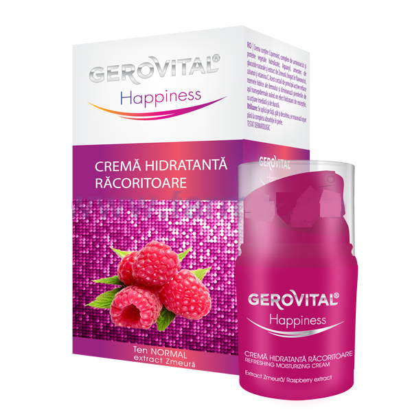 Gerovital Happiness Crema Hidratanta racoritoare 30ml