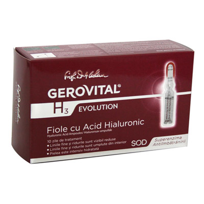 Gerovital H3 Evolution Fiole cu acid hialuronic