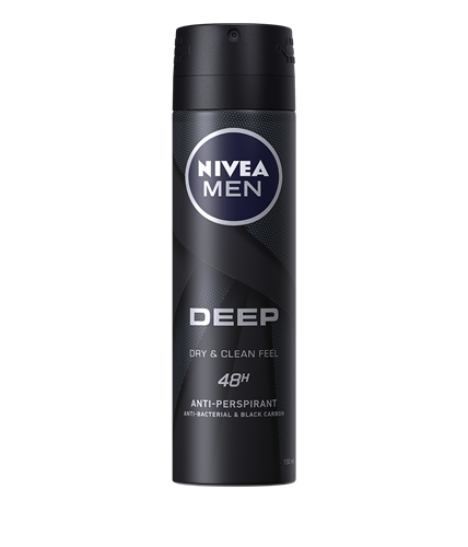Nivea Men Deep Dry&Clean Feel Deodorant spray 150ml