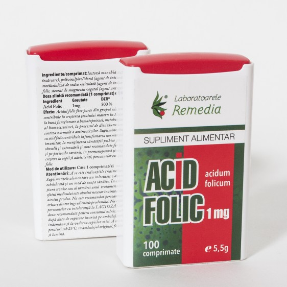 Remedia Acid Folic 1mg