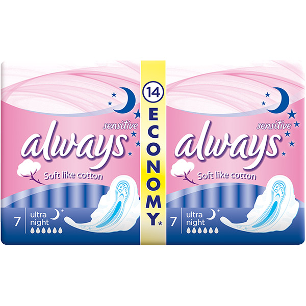 Always Ultra Night Sensitive 14 buc