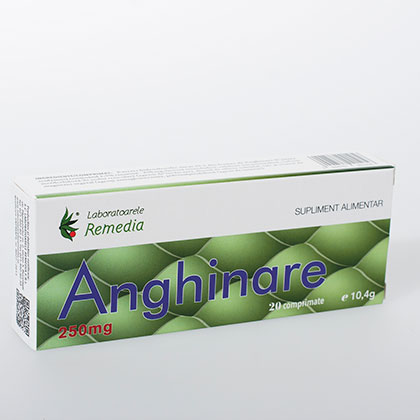 Remedia Anghinare 250 mg 20 comprimate