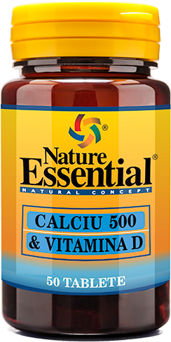 NATURE ESSENTIAL Calciu 500 + Vitamina D tablete