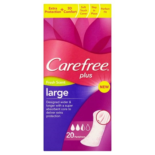 CAREFREE Panty Liners Large Fresh 20 bucati