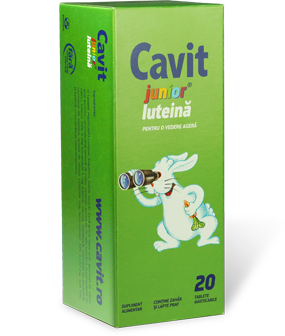 Cavit Junior luteina tablete masticabile