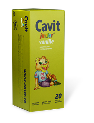 Cavit Junior Vanilina 20 tablete