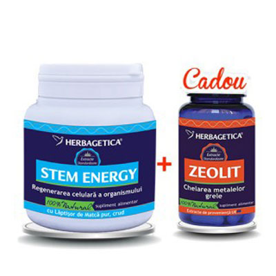 Herbagetica Stem energy + zeolit (250ml + 60 cps)
