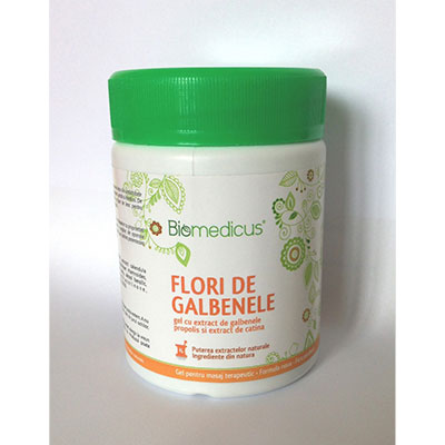 BIOMEDICUS Gel flori de galbenele 250ml