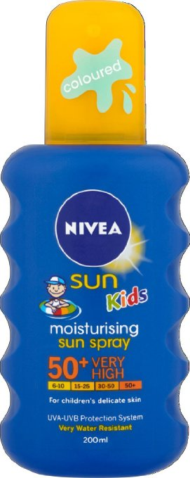 NIVEA Sun Kids Spray colorat SPF50+ 200ml