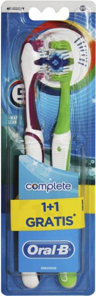 ORAL B Periuta dinti 5-Way Clean Complete 1+1