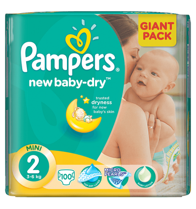 Pampers New Baby 2 - 100 bucati