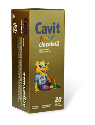 Cavit Junior Ciocolata tablete masticabile