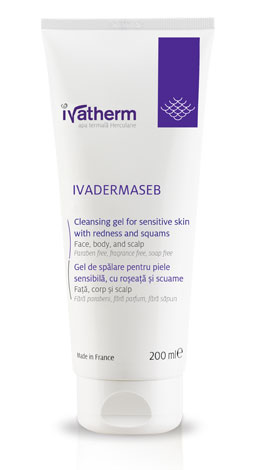 Ivatherm Ivadermaseb gel spalare piele cu roseata si scuame