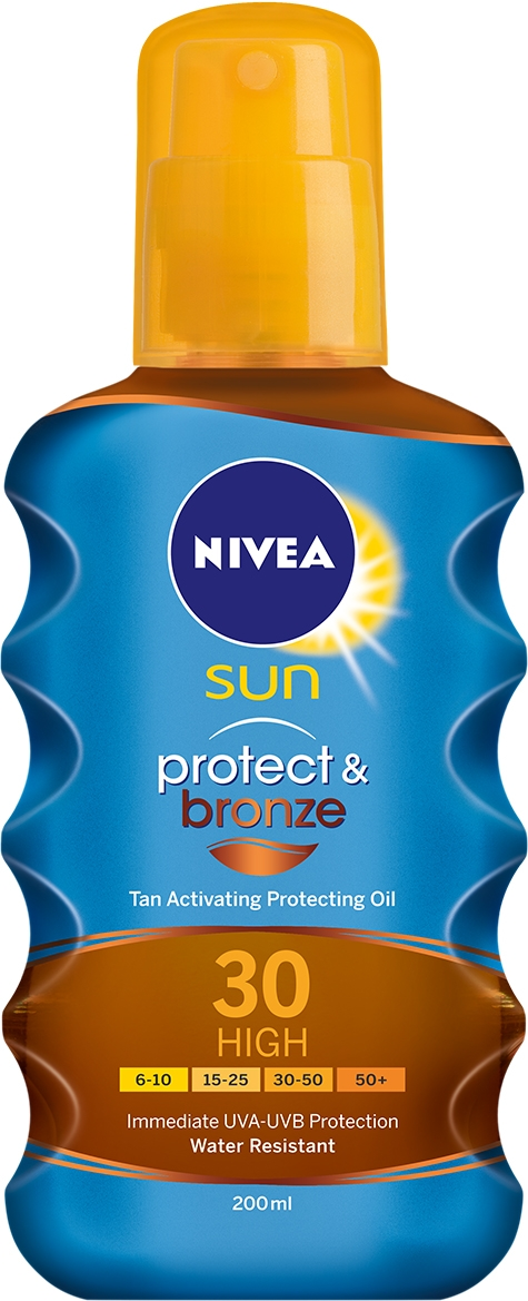 NIVEA Sun Protect & Bronze Ulei spray plaja SPF30 200ml
