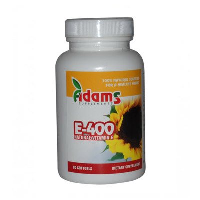 Adams Vitamina  E naturala 400mg 30 capsule