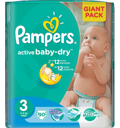 Pampers Active Baby 3 - 90 bucati