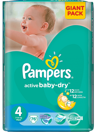 Pampers Active Baby 4 - 76 bucati